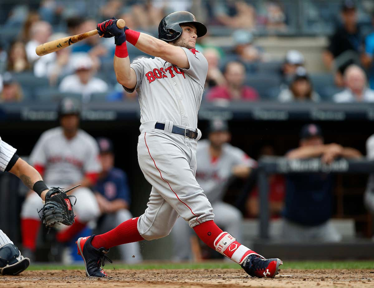 Andrew benintendi laid down the hammer of god on luis severino and boston red sox v new york yankees malvernweather Gallery