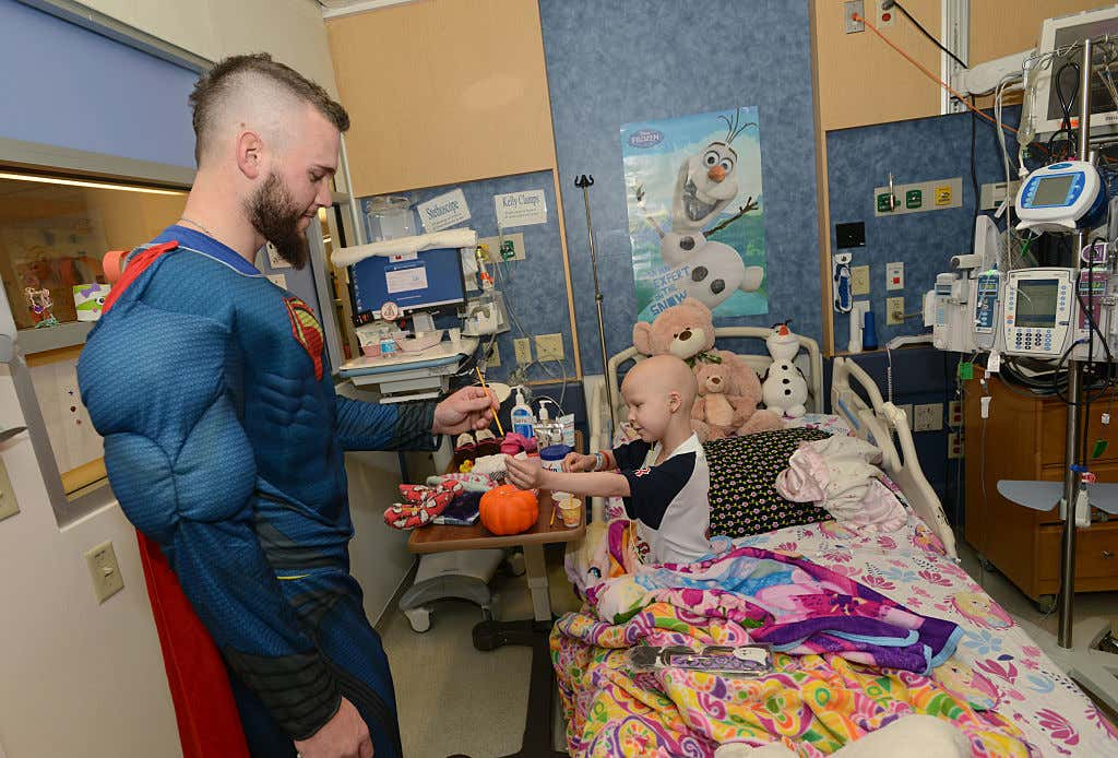 Red Sox Pitcher Drake Britton Brings Halloween Spirit to Boston Children's Hospital