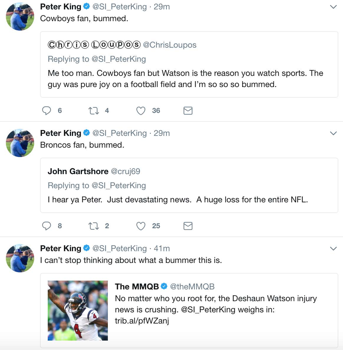 Some Bad News From Peter King... NFL Fans Are Bummed About The ...