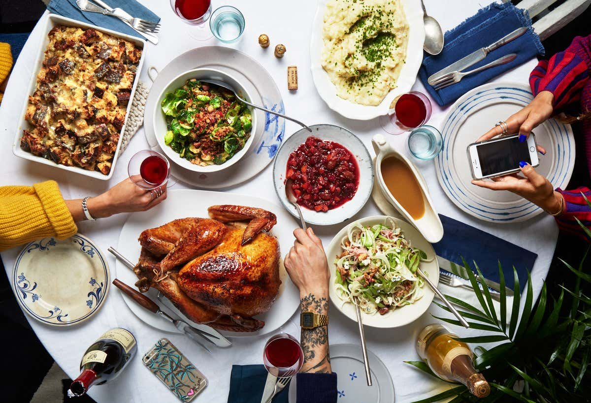 I love the idea of charging family members a thanksgiving for Table a diner