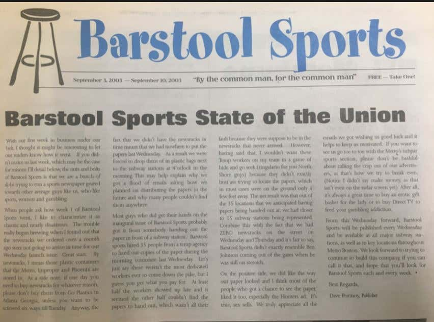 Barstool Sports Is Now Valued At Over 100 Million Dollars GASP