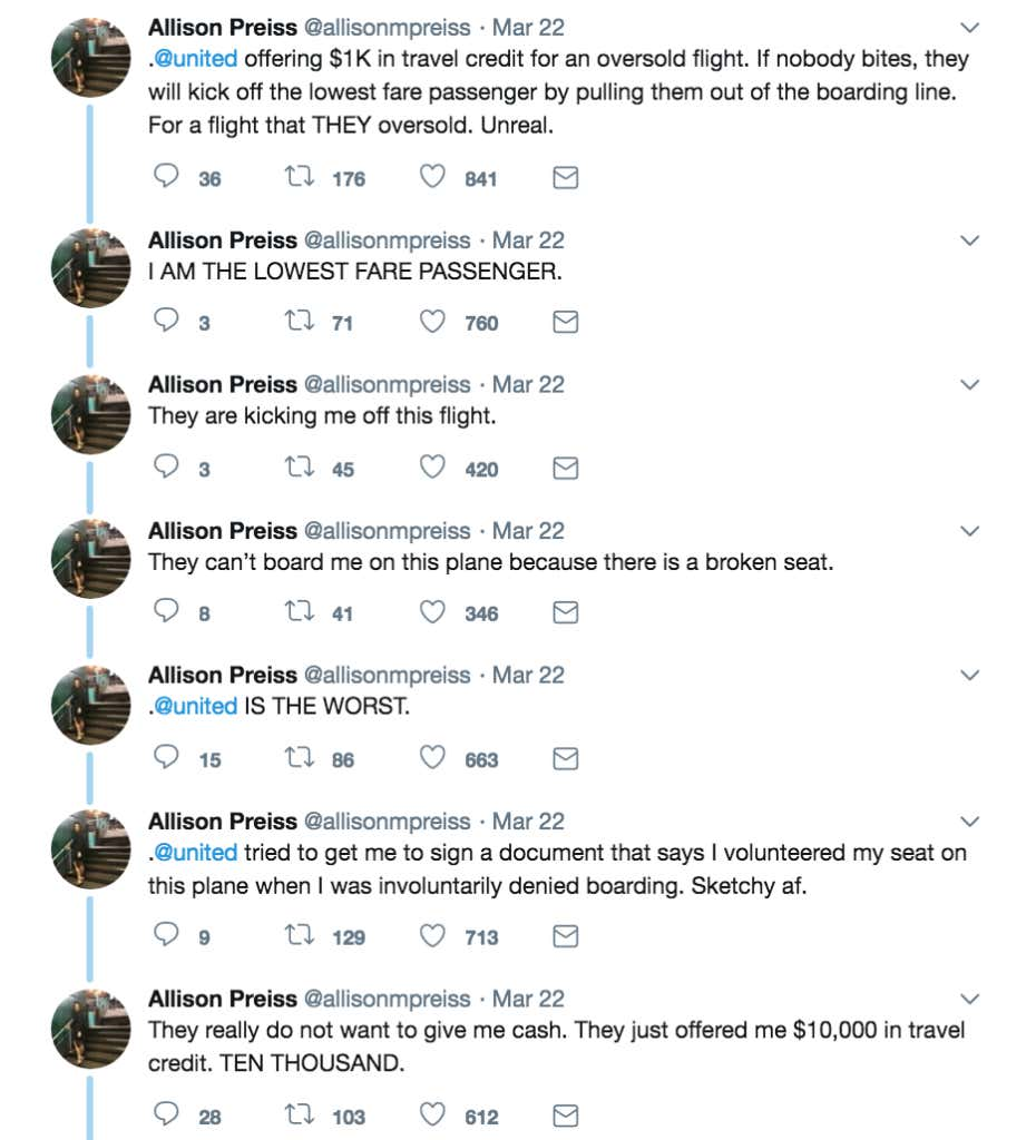 United airlines panicked and gave a woman a 10000 voucher for screen shot 2018 03 23 at 110005 am 1betcityfo Image collections
