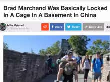 FAKE NEWS: Brad Marchand Was Not Locked In a Cage in a Basement in China