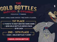 FanDuel Is Doing It Again. Join Tonight's FREE Gold Bottles Contest For A Chance To Win Red Sox Tickets And More